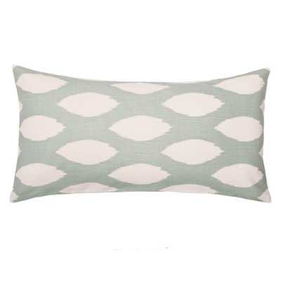 The Green and White Raindrop Throw Pillow - Crane & Canopy