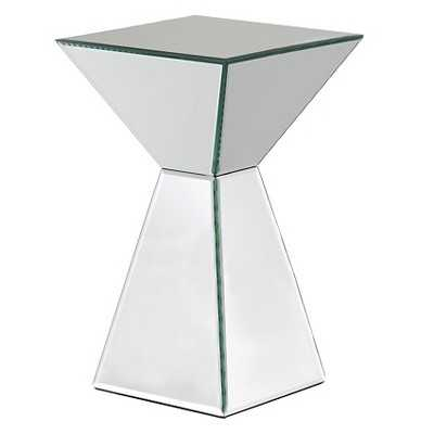 Mirrored Pyramid Living Room Accent Side/End Table - Target