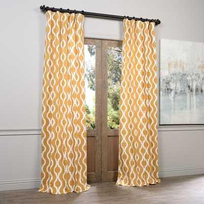 EFF Medina Printed Cotton Curtain Panel - Overstock