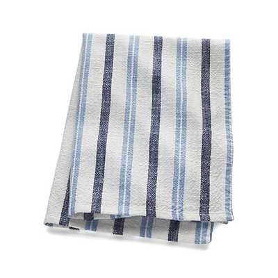Farmhouse Blue Stripe Dish Towel - Crate and Barrel