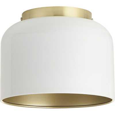 Bell white flush mount lamp - CB2