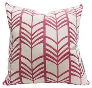 Lauren 20x20 Linen Pillow, Pink-  Feather/down fill insert - One Kings Lane