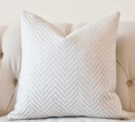 "Woven Zig Zag Chevron Pillow - 20"" x 20"" - Insert Sold Separately - Etsy"