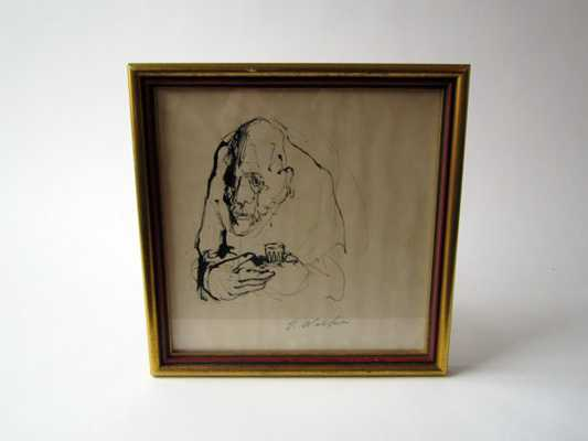 "Vintage Framed Drawing Artwork - 11.25"" by 11.25"" - Etsy"