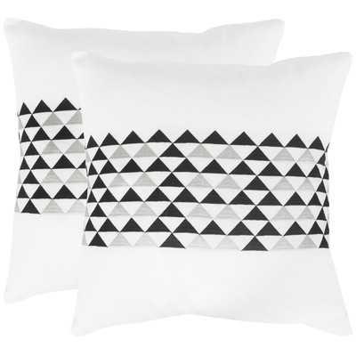 Geo Linen Throw Pillow - Set of 2 - Wayfair