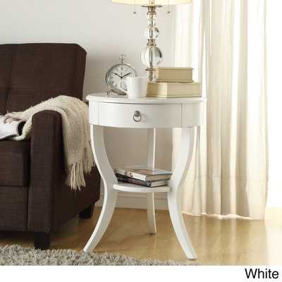INSPIRE Q Burkhardt Tripod Round Wood Accent Table - Overstock