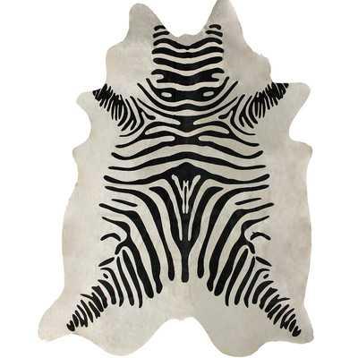Hides Zebra Print Cowhide Black & White Area Rug - 5' x 7' - Wayfair