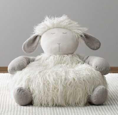 Wooly plush lamb chair - RH Baby & Child
