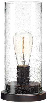 Libby Seeded Glass Edison Bulb Accent Lamp - Lamps Plus