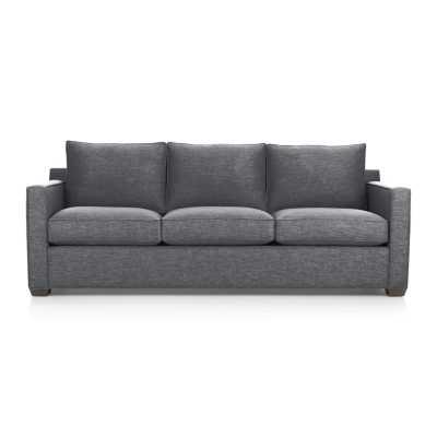 Davis 3-Seat Sofa - Ash - Crate and Barrel