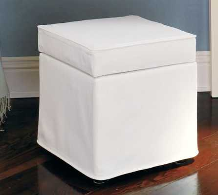 Lewis Slipcovered Cube - Pottery Barn