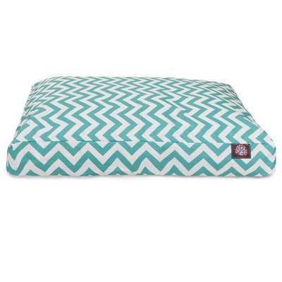 Chevron Rectangle Dog Bed - Teal - AllModern