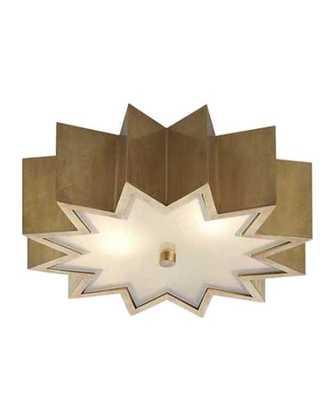 Odette Flush Mount Ceiling Fixture, Natural Brass - High Street Market