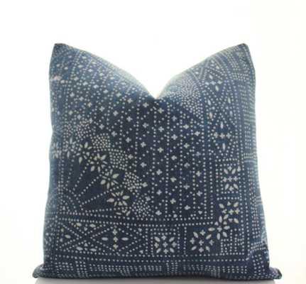 Chinese Indigo Batik Pillow Cover-18x18-No insert - Etsy