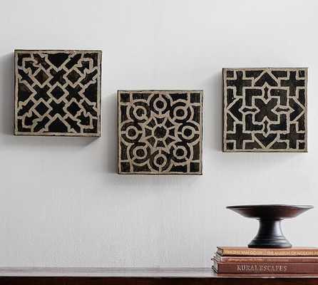 Conservatory Tiles Set-  Set of 3. - Pottery Barn