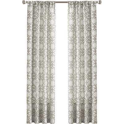 "Lotus Harmony Single Curtain Panel - Linen, 84""L - Wayfair"
