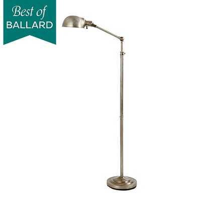 Julian Apothecary Floor Lamp-Aged Silver - Ballard Designs