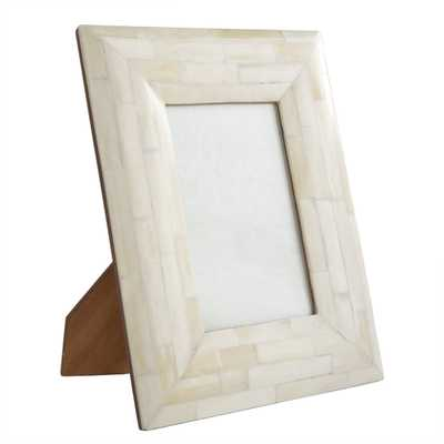 Bone Photo Frame - Rectangle - Wisteria
