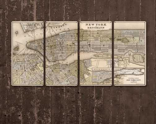 Vintage Map of Brooklyn - Etsy