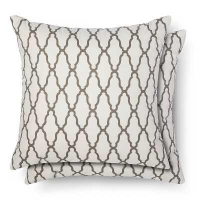 "Thresholdâ""¢ 2-Pack Trellis Toss Pillows - Target"