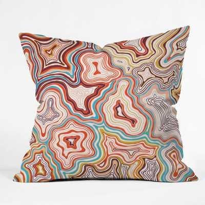 "SEDONA throw pillow 16"" x 16"" insert - Wander Print Co."