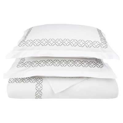 Clayton 3 Piece 200 Thead Count Duvet Cover Set by Simple Luxury - King / California King Size - AllModern