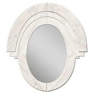PTM Western Rustic Wood Oval Mirror - Target