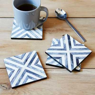 Herringbone Coasters (Set of 4) - West Elm