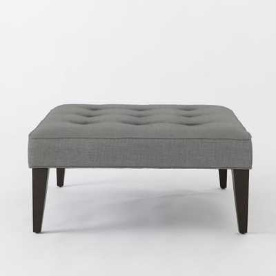 Upholstered Tufted Ottoman - West Elm