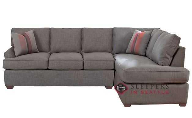 Savvy Gold Coast Chaise Sectional Sleeper Sofa (Full) - LAF - Brookside Grey - sleepersinseattle.com