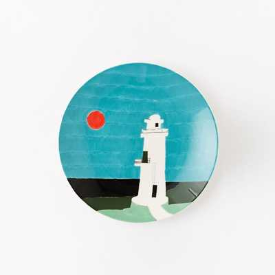 Collector's Editions Plates - Blue Lighthouse - West Elm