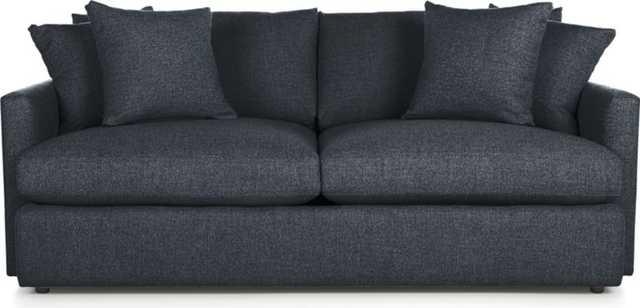 "Lounge II 83"" Sofa - Cobalt - Crate and Barrel"