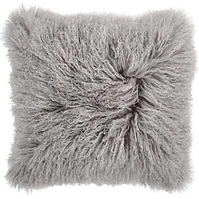 "Mongolian Pillow Light Grey - 20"" x 20"" -  Without insert - High Fashion Home"