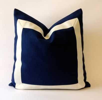 """Cotton Canvas Pillow Cover 18"""" x 18"""" insert sold separately - Etsy"""