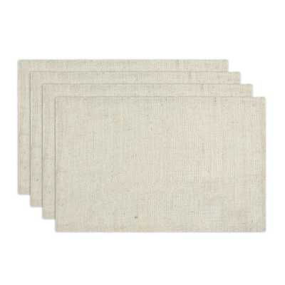 Burlap Ivory Placemats (Set of 4) - Overstock