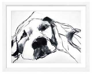 """Dogs, Mouse- 18"""" x 22""""- Off-white frame - One Kings Lane"""