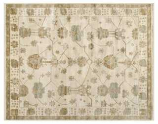 Ortega Rug, Ivory/Blue - One Kings Lane
