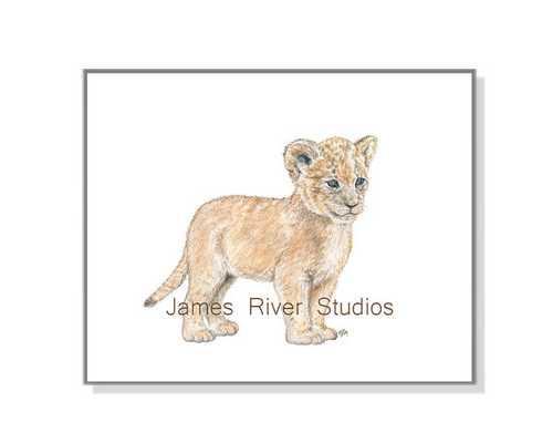 Lion Art Lion Painting Lion Print - unframed - Etsy