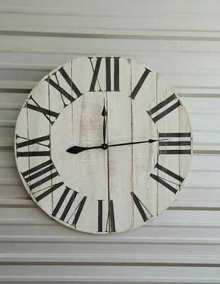 Reclaimed wood wall clock - Etsy