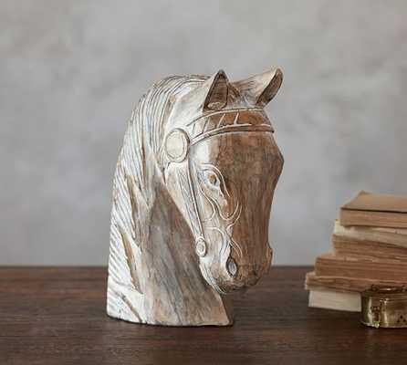 Weathered Wood Horse Head - Pottery Barn