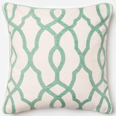 Ledbury Trellis Polyester Filled 22-inch Throw Pillow - Overstock