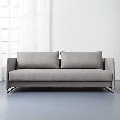 Tandom grey sleeper sofa - CB2