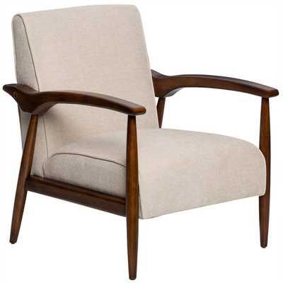 Gracie Retro Buff Arm Chair - Overstock