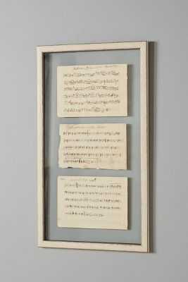 "Sheet Music Vintage Wall Art - 25""H, 13""W - Framed (distressed ) - Anthropologie"