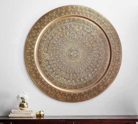 Decorative Metal Disc - Brass - Pottery Barn