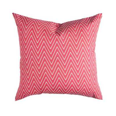 """CORAL TALL CHEVRON PILLOW-20""""X20""""-Without insert - Caitlin Wilson"""