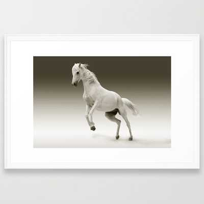 """Magestic Horse- 38"""" X 26""""- Framed - Society6"""