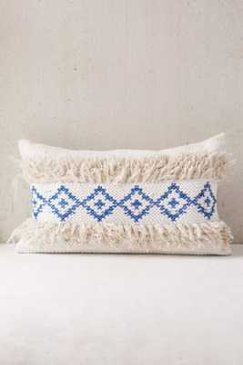 """Woven Geo Tufted Bolster Pillow-14""""l x 24""""w-polyfill - Urban Outfitters"""