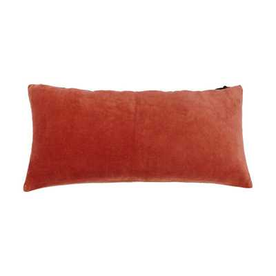 "LUXURY VELVET PILLOW, Gold - 12"" H x 24"" W - Down/Feather insert - Dwell Studio"