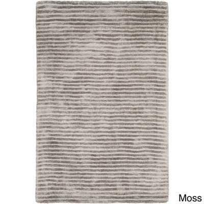 Hand-Loomed Elle Solid Viscose Rug (12' x 15') - Overstock